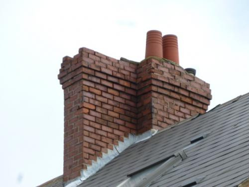 Weathered Chimney Pointing and Brickwork
